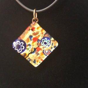 🌻Murano Italian glass necklace